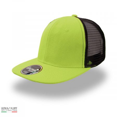 cappello con visiera verde