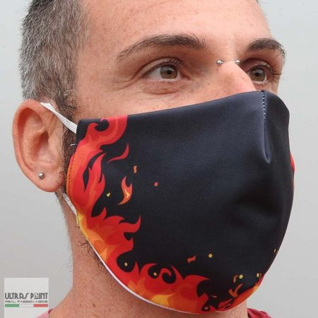 mascherina fiamme neutra